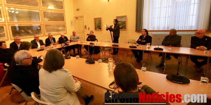 Una delegació de batlles s'ha reunit avui a Perpinyà