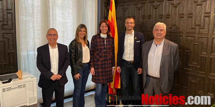 Reunió a l'Ajuntament de Girona