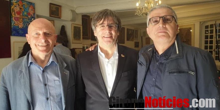 Jordi Vera amb Puigdemont a Cotlliure
