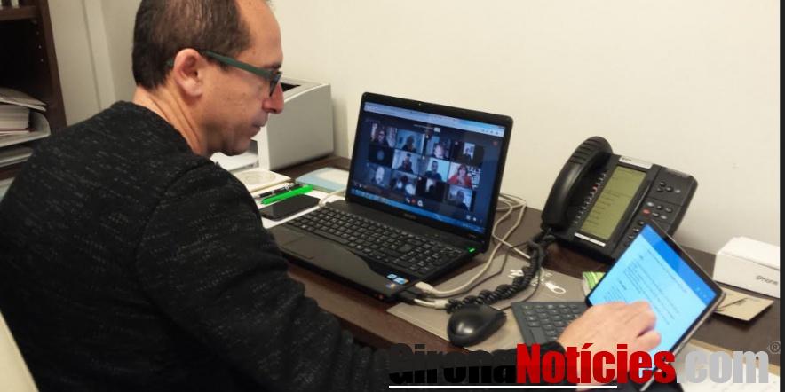alt -  L'alcalde de Palamós, ha participat a la Junta de Govern Local telemàtica
