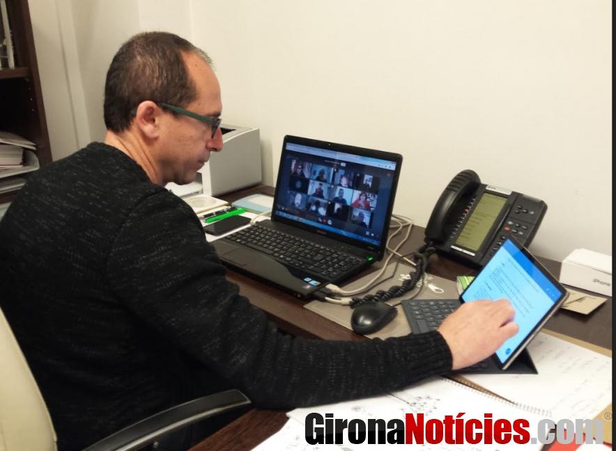 L'alcalde de Palamós, ha participat a la Junta de Govern Local telemàtica
