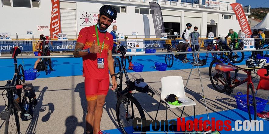 Marc Rodriguez Palet paratriatleta gironí del club Triatló Girona Costa Brava Trade INN