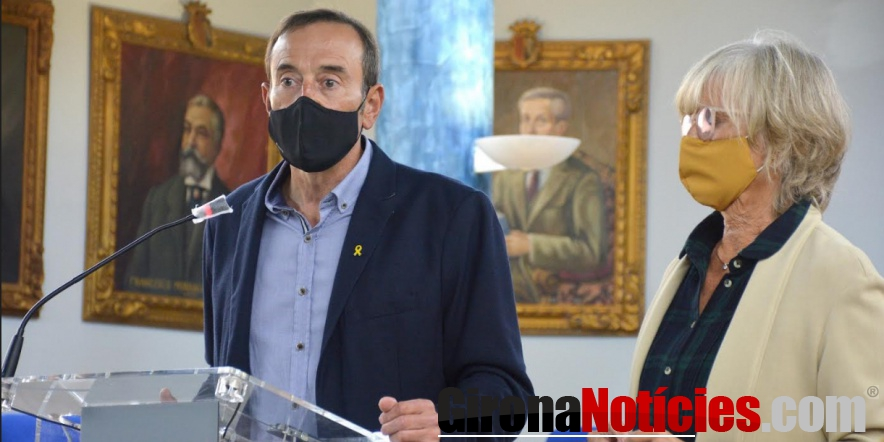 alt - L'alcalde Pep Berga i la regidora d'Hisenda Montse Torras