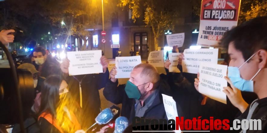 Manifestación de la hostelería en Barcelona
