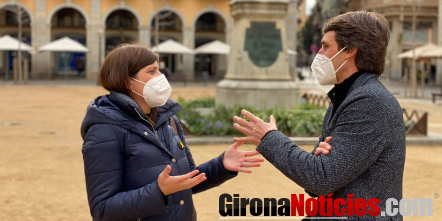 alt - Gemma Geis i Salvador Vergés a Girona