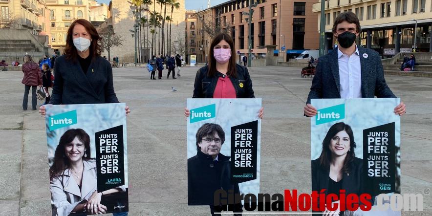 Presentació cartells electorals del 14-F