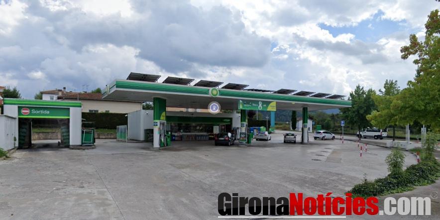 Benzinera a BP Olot