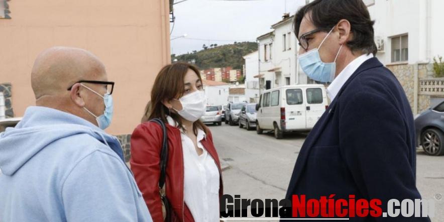 Visita de Salvador Illa a Girona