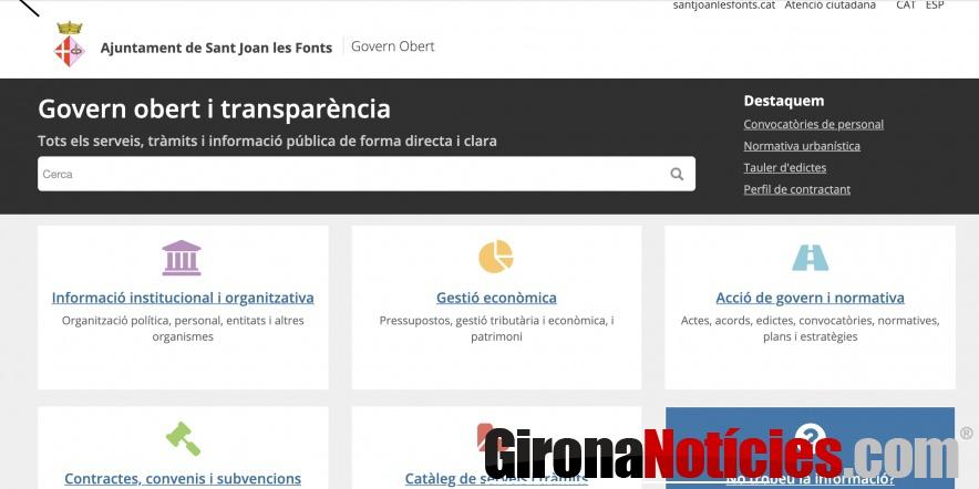 pàgina web de transparència municipal