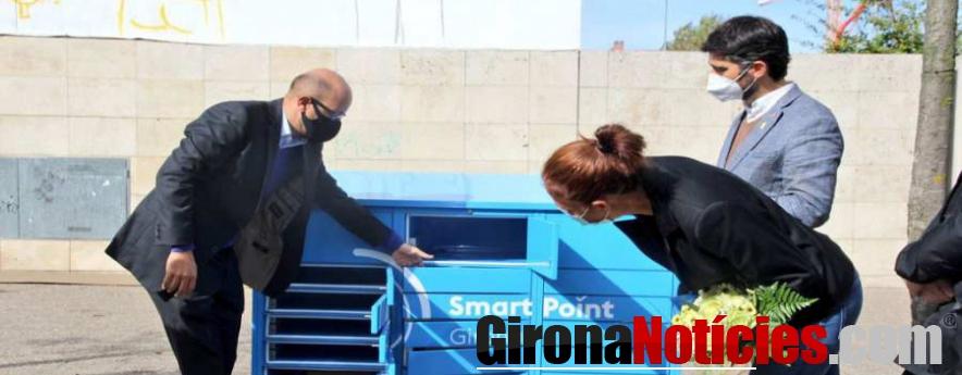 alt - El comerç local i la ciutadania de Girona valoren amb èxit la prova pilot de paqueteria intel·ligent